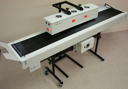 KBS Drying Conveyor with a 6 foot wide belt conveyor and 30 inch dryer