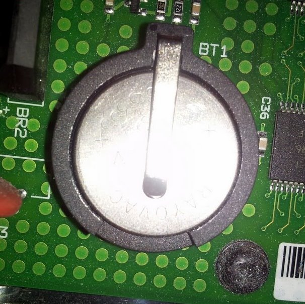 Main board battery for legacy Secap - Bryce printers